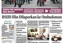 Newspaper Layout / Design of local newspaper in regional kalimantan indonesia