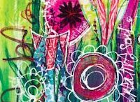 tutorials / Mixed media tutorials for art journaling, gel printing, stenciling and more!