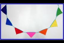 Crochet Buntings and Garland video tutorials and written patterns / Find all my written pattern and video tutorials for garlands and buntings on this board
