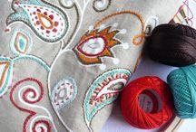 tecidos bordados
