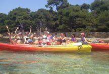 EVJF / Enterrement de vie de jeune fille et enterrement de vie de garçon Découvrez le stand up paddle et le kayak avec AQUA SPORT EVASION