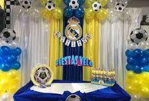 Decoraciones fiesta real madrid