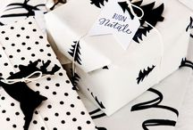 * black & white gift wrap // schwarz-weißes geschenkpapier