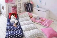 kiddies bedroom bunks mattresses on floor