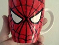 Spider man cup painting2