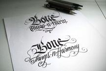 letra m cursiva