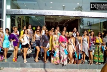 """""""Miss Latin America of the World 2012 Contestants visit Diamonds International, Playa Del Carmen."""" / The Miss Latin America pageant was held in Playa Del Carmen, where the beautiful contestants visited and shopped in our store!"""