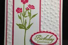 Flower birthday  cards