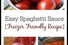 Spaguetti sauces