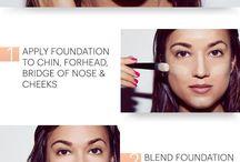 applying foundation