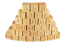 Wooden Alphabet Blocks / Natural #wood #alphabet #blocks Find more: www.klikklakblocks.com