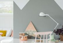 SHADES OF WATERCOLORS // PASTEL / Ideas to decorate your interior with watercolors and pastel colors