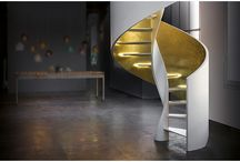 Scaloro, the re-invention  of the helical staircase / Scaloro, the new helical staircase Rizzi, brings strongly to the fore the ornamental appearance of staircase within the architectural space. Design Carlo Caretta