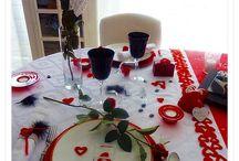 Table St Valentin passionnée