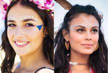 pintura rosto festival