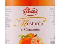 Italian Lazzaris Mostarda / Quinces, sugar, candied fruit and mustard oil, are the 4 basic ingredients. The regional traditions change, the blends and combinations vary, but the result is is a refined and never commonplace product.
