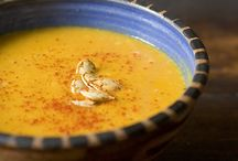 Thai-spiced pumpkin soup.