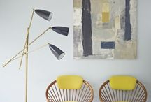 Interiors with yellow