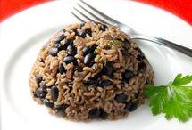 arroz con porotos negros