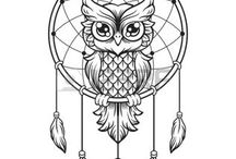 Owl and dreamcatchers