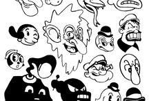Old Cartoons Aesthetic / A board about older cartoons for Digital Art.