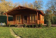 Ahşap kütük bungalov ev