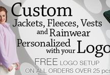 Embroidered Outerwear | Custom Logo Jackets | Personalized Fleeces / Custom personalized outerwear, jackets, and fleeces embroidered with your company logo, team, or promotional event. Quality Custom Embroidery http://www.ezcorporateclothing.com/pages/embroidered-outerwear