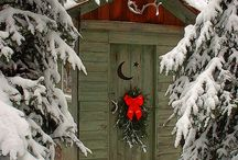 christmas outside / by Sharon Collantine