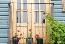 Okno balkonowe/ balustrada