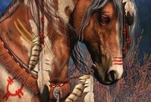 Painted Indian horses / Art