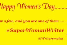 #SuperWomanWriter / A trend started by Writersmelon this March, on Women's Day, to make it count for every woman writer who's worth it. Join us in this journey of finding the #SuperWomanWriters. Celebrate Books. Celebrate Women.