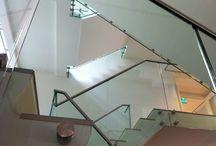 Glazen balustrade / glazen balustrades op maat -  doorvalbeveiliging