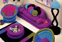 barbie crochet furniture
