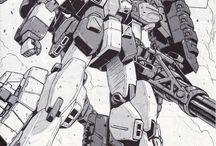 ロボット_白黒