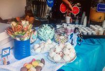 Vespa βάπτιση / Βάπτιση στην Αγία  Κυριακή  Αττικού Άλσους με θέμα την βέσπα σε αποχρώσεις τυρκουάζ,σιέλ & μπλέ