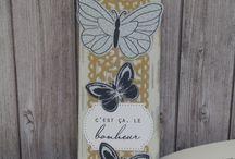 marque page papillon