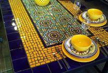 Дача столы из мозайки