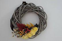 podzimní dekorace / Věnce jsem začala vyrábět, na přání nevěst, které vyhledali moje služby i po svatbě...