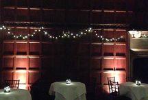 Hengrave Hall - Banqueting Hall Lighting / Our lighting hire work in the Banqueting Hall at Hengrave Hall