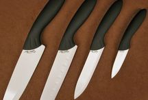 Four Piece Ceramic Kitchen / Stone River Four Piece Ceramic Knife Set Parer, Utility, Santoku, Chef with White Ceramic Blades  Stone River Ceramics Knives are manufactured from the highest quality stabilized zirconium oxide material available in the world. Each knife features a contoured ergonomically designed comfort grip black handle for a sure and comfortable grip. The blades are meticulously edged to provide years of regular service without the need of sharpening.