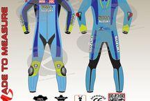 Suzuki rizla custom made motorbike leather suit