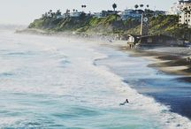 Southern California Surf / Probably the first or second best thing to do on the ocean in California, surfing!