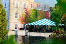 Millcroft Inn & Spa Weddings / Set among the beauty and charm of the Caledon Hills, The Millcroft's beautiful Mill Pond, impressive Shaw's Creek Falls, and our extensive grounds set a perfect stage for your wedding guests to enjoy. The historic Mill, with its limestone walls and mullioned windows, provides charming indoor reception space, and our onsite wedding tent is surrounded by nature. Our Riverside Wedding Garden is the perfect location for your outdoor ceremony.