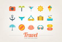 Icons / Hand drawn icons, flat icons, outline icons