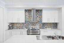"Marrakesh 8""x8"" Porcelain Tile / Glossy and Matte 8""x8"" Patterned Tile"