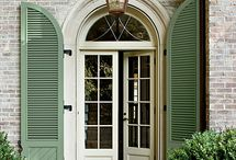 Shutters and front door colors