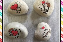 Valentine Painted Rocks