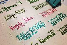Handwriting / Beautiful handwriting samples.