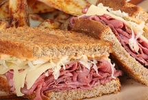 Moore Reubens Please | Dedicated to Reuben sandwiches / A board all about the Reuben sandwich including all its variations. The classics Reuben is a perennial favourite - corned beef with sauerkraut and Swiss cheese dressed with Russian dressing held together on a toasted rye bread sandwich - yum!  Email me with tips and recipe ideas at MooreReubensPlease@gmail.com!