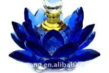 flacons et objets bleus / ma couleur préférée